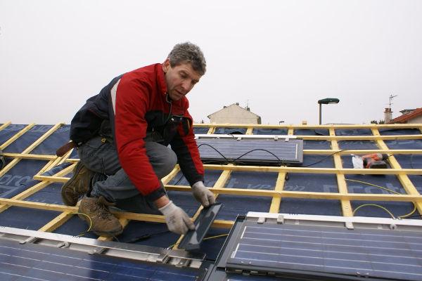 Le couvreur sur la toiture